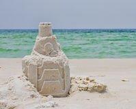 A Sandcastle on a Florida Beach Stock Photography