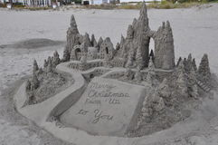 Sandcastle at Hotel del Coronado in California Royalty Free Stock Photography