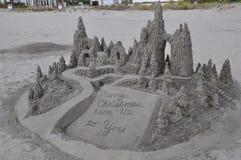 Sandcastle at Hotel del Coronado in California Royalty Free Stock Photography