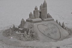 Sandcastle at Hotel del Coronado in California Stock Images