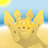 Sandcastle illustration Stock Photos