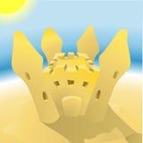 Sandcastle illustration Stock Photos