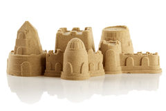 Sandcastle isolated over white Stock Images
