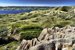 Sandcastle jezioro Diefenbaker zdjęcia royalty free
