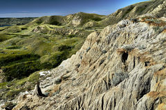 Sandcastle jezioro Diefenbaker zdjęcia stock