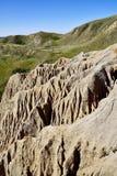 Sandcastle jezioro Diefenbaker fotografia royalty free