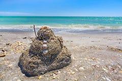 Sandcastle plaża obraz stock