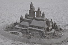 Sandcastle przy Hotelem Del Coronado w Kalifornia Obrazy Royalty Free