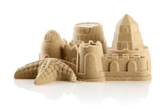 Sandcastle przy plażą zdjęcie stock