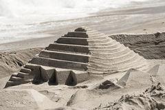Sandcastle Pyramid Stock Photography
