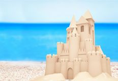 Sandcastle. Sand beach single object textured nobody childhood Stock Photography