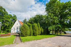 Wedding chapel, chapel in nature, small chapel stock photography