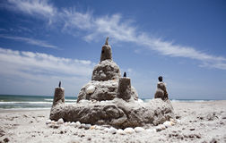Sandcastle. Satellite Beach Florida on a sunny day Royalty Free Stock Image