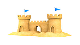 Sandcastle on the seaside Royalty Free Stock Image