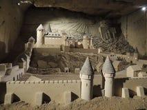sandcastle Stary kasztel - sztuka od wapnia fotografia stock