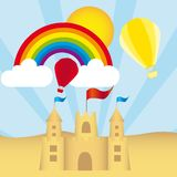 Sandcastle vector Stock Photography