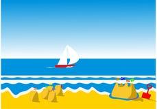 sandcastles royaltyfri foto