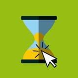 Sandclock and cursor icon Royalty Free Stock Image