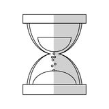 Sandclock icon image Stock Photography