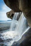 Sandcut Beach. Waterfalls at Sandcut Beach near Victoria, British Columbia Royalty Free Stock Photos