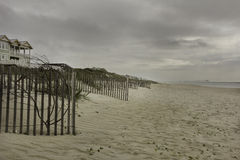 Sanddünen auf dem Strand stockbild