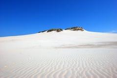Sanddünen auf der Wüste Lizenzfreie Stockfotos