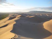 Sanddünen in der Gobi-Wüste Lizenzfreie Stockbilder