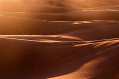 Sanddünen der Sahara-Wüste Lizenzfreies Stockbild