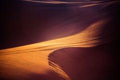 Sanddünen der Sahara-Wüste Stockfotos