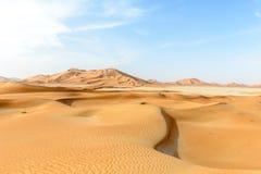 Sanddünen in der Unebenheitsal-c$khaliwüste (Oman) Stockfoto