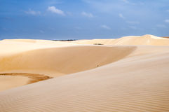 Sanddünen des Lencois Maranheses in Brasilien Lizenzfreies Stockfoto