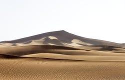 Sanddünen Marokkos (Hamada du Draa) Stockfotografie
