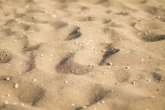 Sanddünen mit Kieseln, niedriger Winkel Lizenzfreies Stockfoto