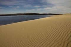 Sanddünen neben Silver Lake Lizenzfreie Stockfotografie