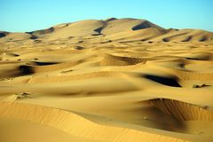 Sanddünen in Sahara Stockfotografie