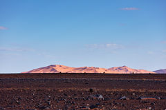 Sanddünen in Sahara Desert, Merzouga Lizenzfreies Stockfoto