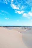 Sanddünen in Stero, 4x4, Exkursion, Aomak-Strandschutzgebiet, Socotrainsel, der Jemen Stockbilder