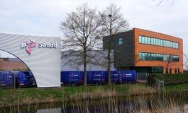 Sandd byggnad i Nederländerna royaltyfria bilder