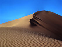 Sanddune. In the Taklamakan Desert, eastern China Stock Photos
