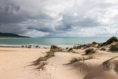 Sanddunes of Bolonia. Andalusia, Spain Stock Images
