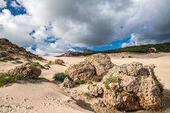 Sanddunes of Bolonia. Andalusia, Spain Royalty Free Stock Photography