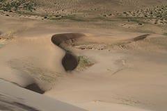Sanddunes in the Desert Gobi. Mongolia Stock Image