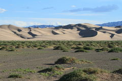 Sanddunes in the Desert Gobi Stock Photo