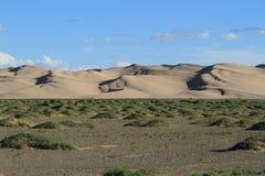 Sanddunes in the Desert Gobi. Mongolia Royalty Free Stock Images