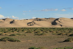 Sanddunes in the Desert Gobi Royalty Free Stock Photo