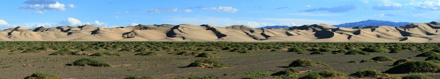 Sanddunes in the Desert Gobi. Mongolia Stock Images