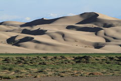 Sanddunes in the Desert Gobi. Mongolia Stock Photos