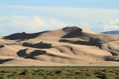 Sanddunes i öknen Gobi royaltyfri bild