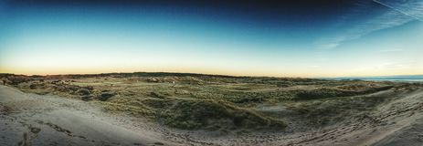 Sanddunes 360 image. 360 image of the sand dunes Royalty Free Stock Photos