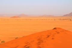 Sanddyn i den Namib öknen Arkivfoton